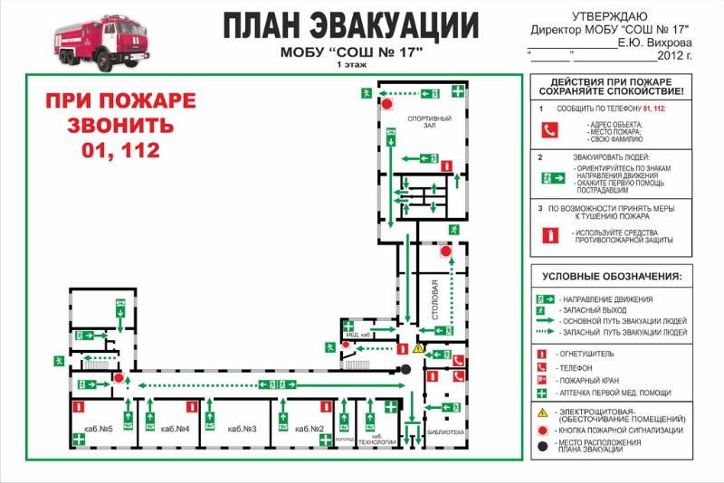 школа №17», первый этаж